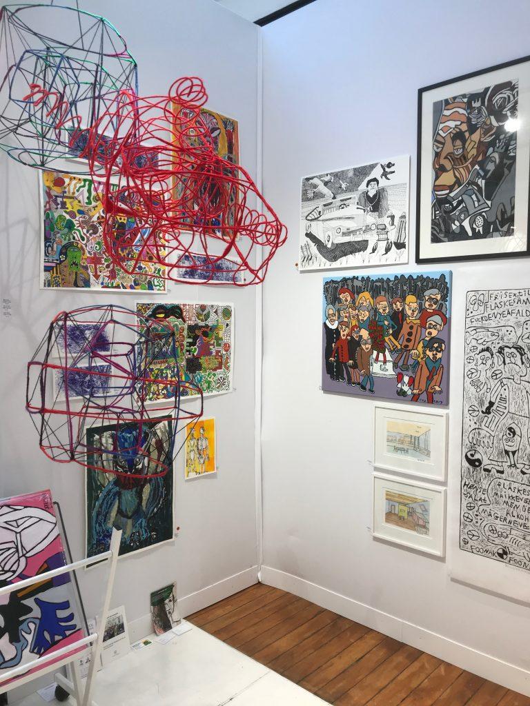 Her ses vores stand i Paris, som vi delte med Københavns kunstskole, Bifrost i Randers og COAG