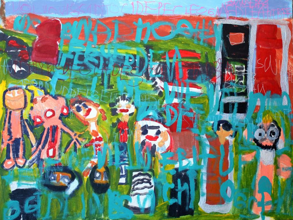 Wicki maler og skriver om sine oplevelser