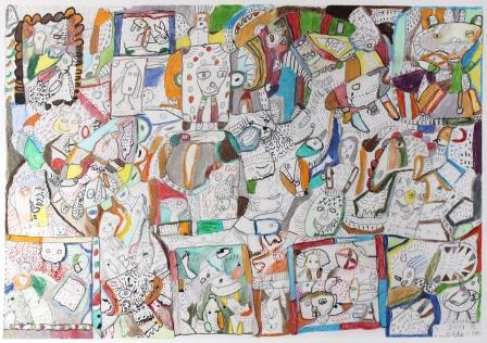 farveblyant på papir