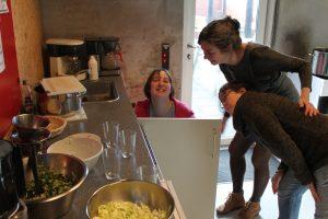 gang i køkkenet